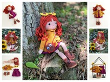 Crochet- and Knittingpattern Doll Lalin, Autumn Girl