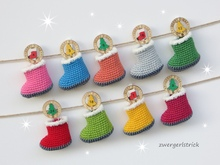 Häkelanleitung - Mini-Booties Adventskalender