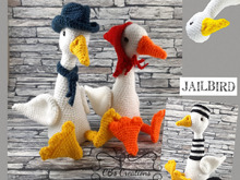 Jack and Coco Goose, incl. Jailbird, Amigurumi Crochet Pattern