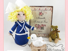 Claire, nostalgia by an old photo, Amigurumi Crochet Pattern