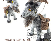 Milton James, Steampunk Goat, Amigurumi Crochet Pattern