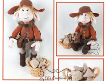 Ferre is looking for mushrooms, Amigurumi Crochet Pattern