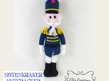 Nutcracker Soldier, Amigurumi Crochet Pattern