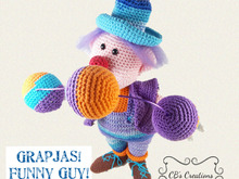 Funny Guy, Amigurumi Crochet Pattern