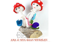 Ama and Nita are going shopping, Amigurumi Crochet Pattern