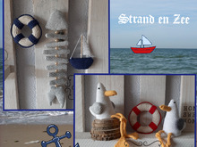 Beach and Sea or Ocean, Amigurumi Crochet Pattern, seagull, lifebuoy