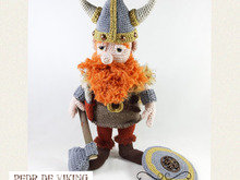 Pedr the Viking, Amigurumi Crochet Pattern