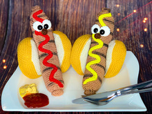 Funny Sausage - Hot Dog - crochet patterns