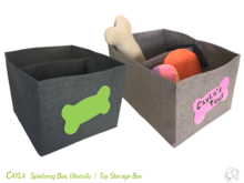 Cayla Storage Box, lined, 2 sizes, sewing pattern