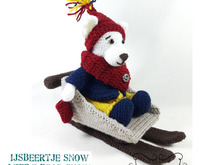 Little Bear Snow and his Sledge, Amigurumi Crochet Pattern