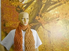 knitting pattern lace scarf Toushoku