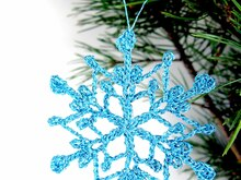 Crochet Pattern Christmas Snowflake Ornaments (1)