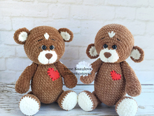 Crochet Amigurumi Pattern Plush bears Brownie