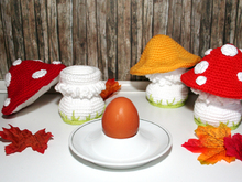 Mushroom - Egg Cozy, Decoration - Crochet Pattern