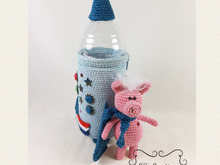 Pig in Space, Amigurumi Crochet Pattern, pig and rocket