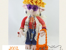 Joni, the Hippie Elf, Amigurumi Crochet Pattern