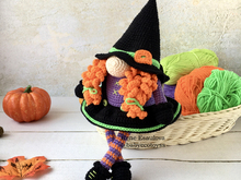 Pattern Amigurumi Halloween Gnome Witch
