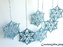 Crochet Pattern Christmas Snowflake Ornaments (13)