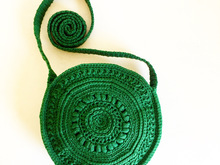 Crochet Purse Circle Bag, Crochet Pattern