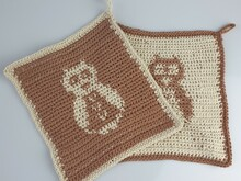 Pattern Owl Potholder