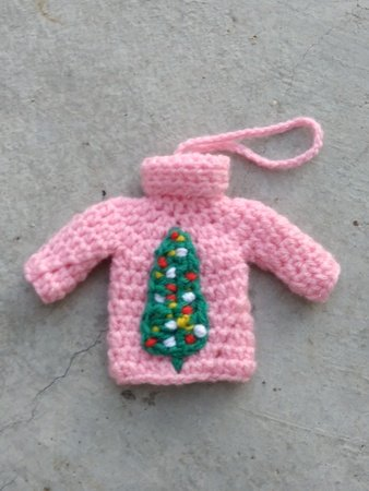 Pattern Pink Christmas tree ornament