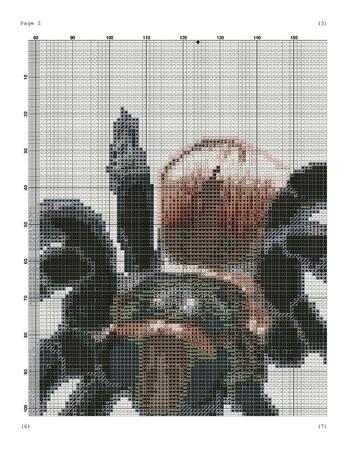 Spider tarantula cross stitch pattern