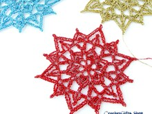Crochet Pattern Christmas Snowflake Ornaments (12)