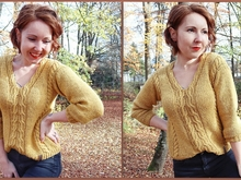 Strickanleitung Sweater ++ Honeycable ++ Größen XS-XL