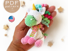 Amigurumi Crochet pattern cute Little Baby Unicorn Rainbow