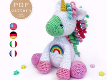 Amigurumi Unicorn with Rainbow Crochet pattern