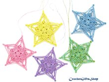 Crochet Pattern Christmas Star Ornaments (8)