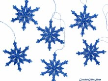 Crochet Pattern Christmas Snowflake Ornaments (6)