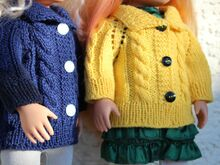 Dolls Jacket Knitting Pattern