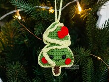 Pattern Christmas tree ornament