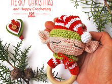 Christmas Elf Baby Rattle Crochet pattern