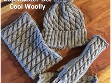 Zopfmuster-Set Cool Woolly stricken mit Woolly Hugs
