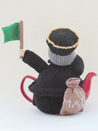 Train Guard Tea Cosy Knitting Pattern