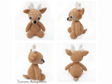 Crochet pattern small deer PDF Ternura Amigurumi English - Deutsch - Dutch