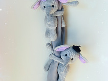 Couple Elephant Curtain Tie Back Crochet Pattern