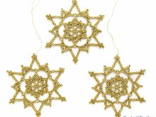 Crochet Pattern Christmas Snowflake Ornaments (8)