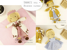 "CROCHET PATTERN ""TANATI doll - Princess clothes"" Only clothes!!!"