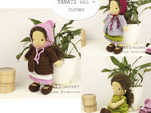 "CROCHET PATTERN ""TANATI doll - Set of clothes"" Only clothes!!!"