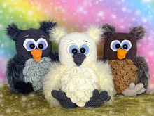 Fluffy Hedwig Babies - crochet patterns