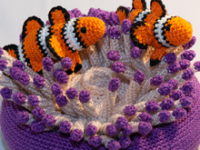 Crochet Pattern for Clownfish with Sea Anemone