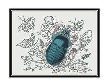 Beetle pattern cross stitch