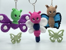 Pattern Butterflies as key chains