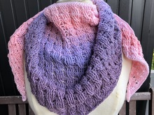"Pattern shawl ""Winter"""