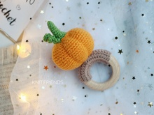 Crochet pattern baby rattle pumpkin
