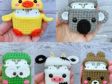 5 Animals Headphone Case cove Cute, Crochet Pattern