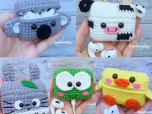 (5 in 1) 5 Character Headphone Case cove Cute, Crochet Pattern